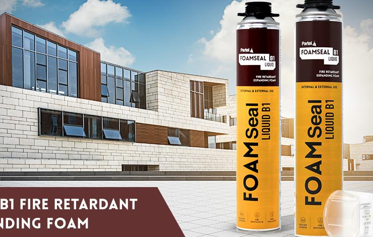 Partel's NEW Fire Retardant FOAMSEAL Liquid B1 offers enhanced thermal insulation and high fire resistance