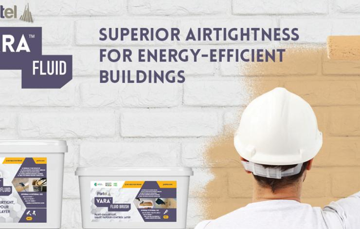 Partel announces the new Vara Fluid to its range of airtightness systems