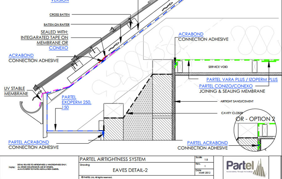 Passive house Airtight details Timberframe and Masonry construction