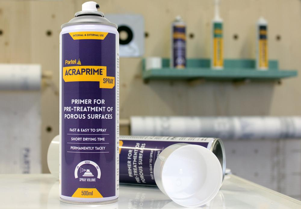 Partel launches ACRAPRIME™ SPRAY – Higher adhesion on porous surfaces