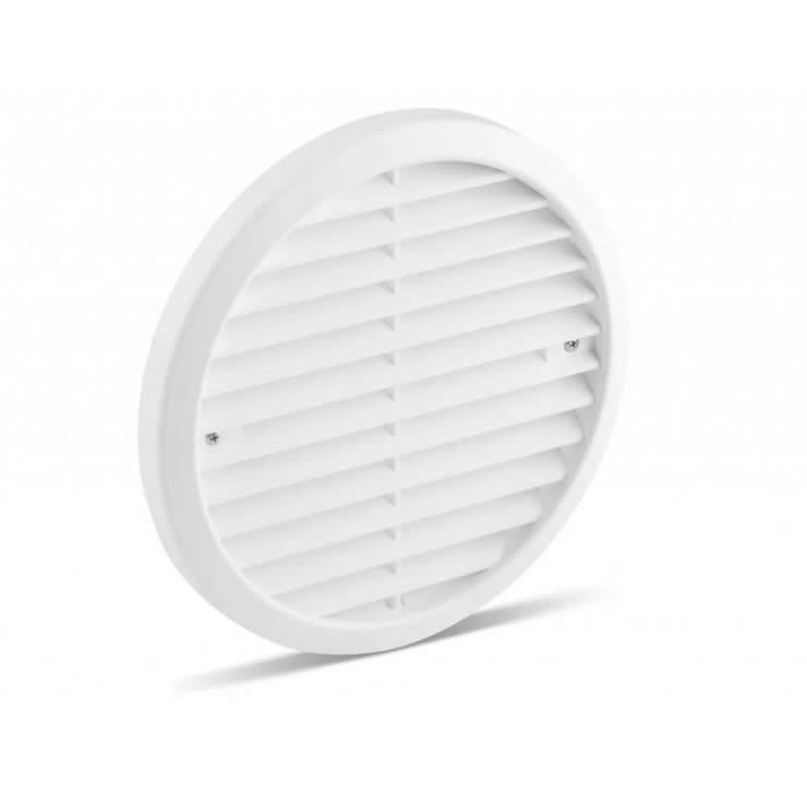 Plastic Grille 180 mm-White